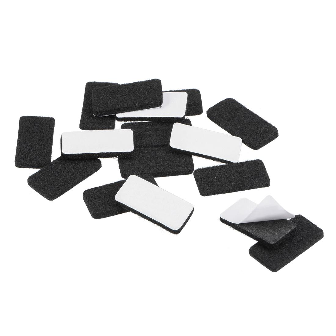 Furniture Pads 30mm x 15mm Adhesive Felt Pads 3mm Thick Black 48Pcs