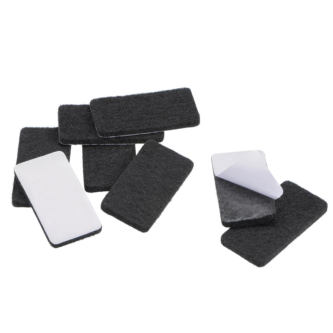 Furniture Pads 40mm x 20mm Adhesive Felt Pads 3mm Thick Black 8Pcs