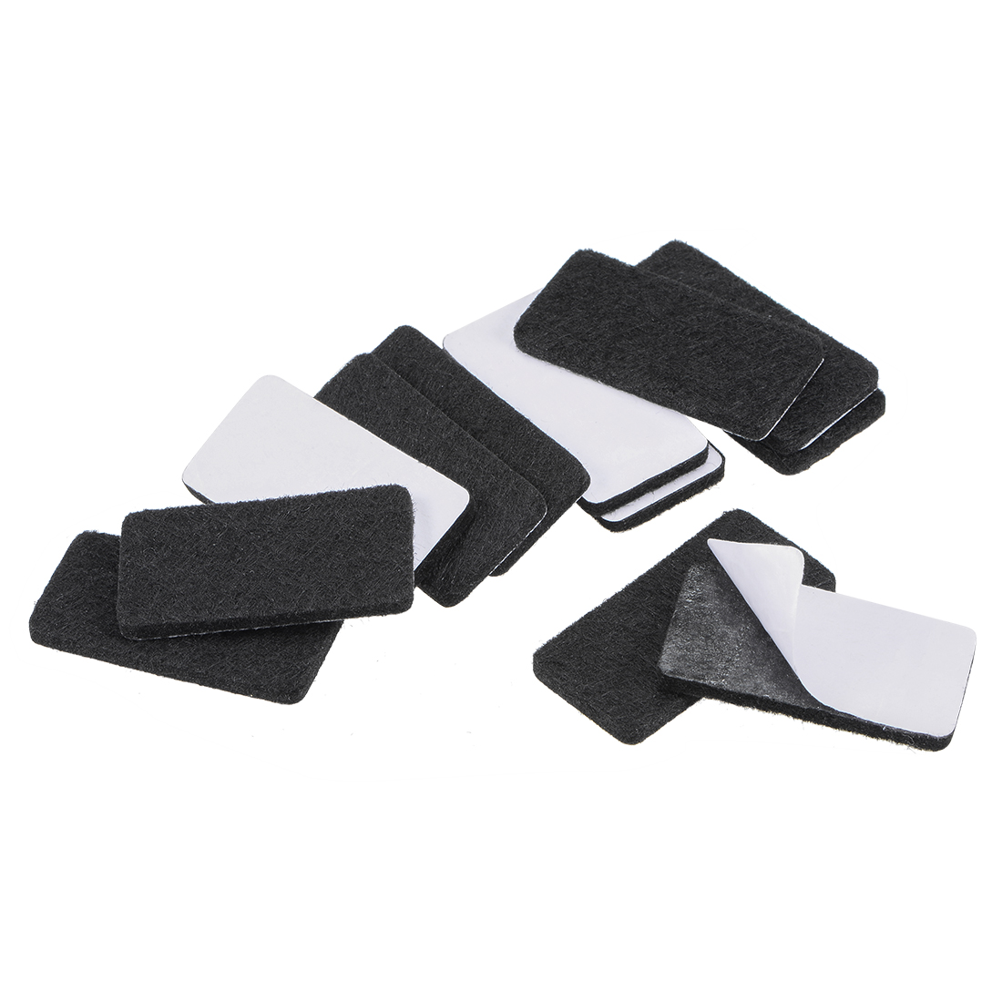 Furniture Pads 40mm x 20mm Adhesive Felt Pads 3mm Thick Black 12Pcs