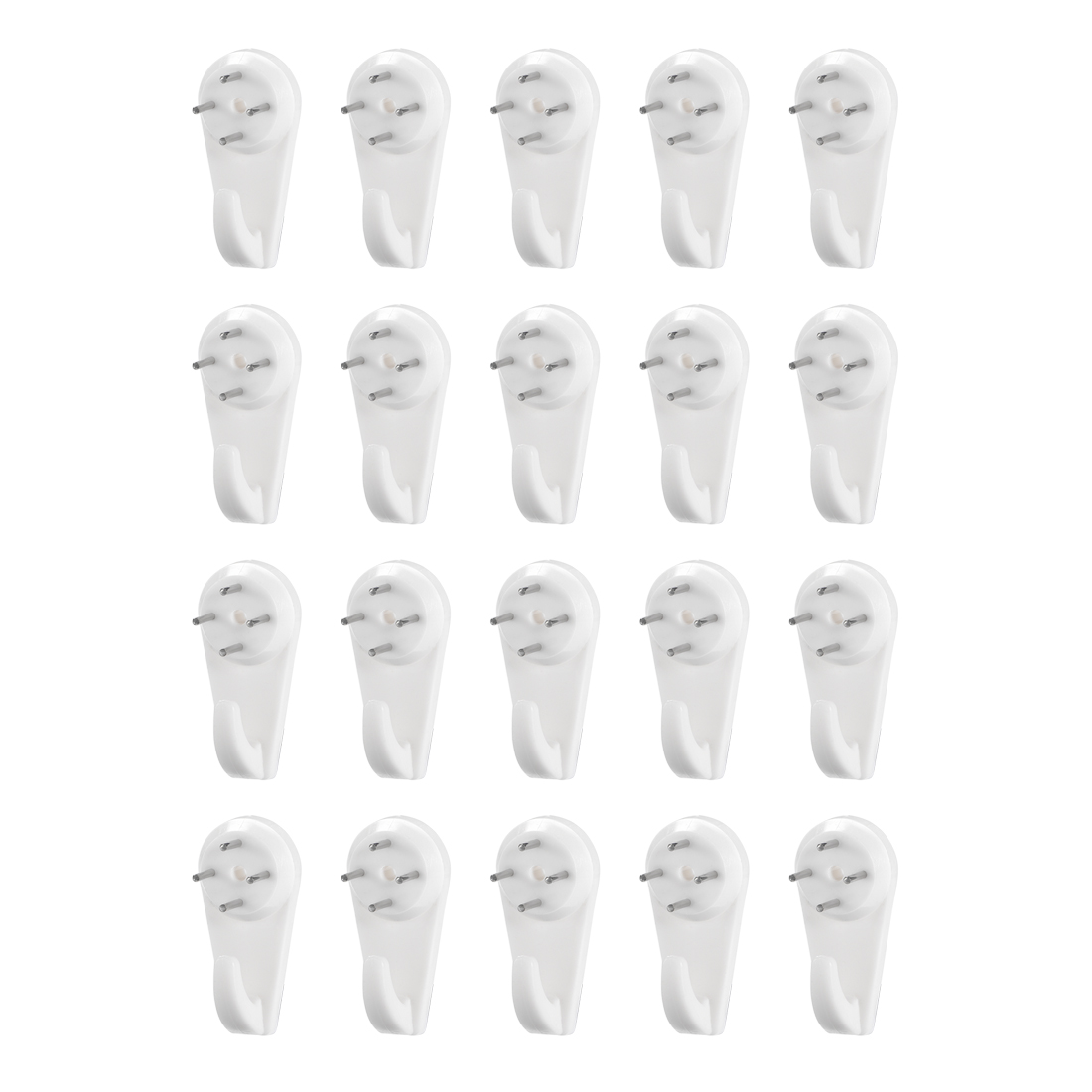 22lbs Hardwall Hanger Wall Mount Non-mark Hook Picture Photo Hangers (20 Pcs)