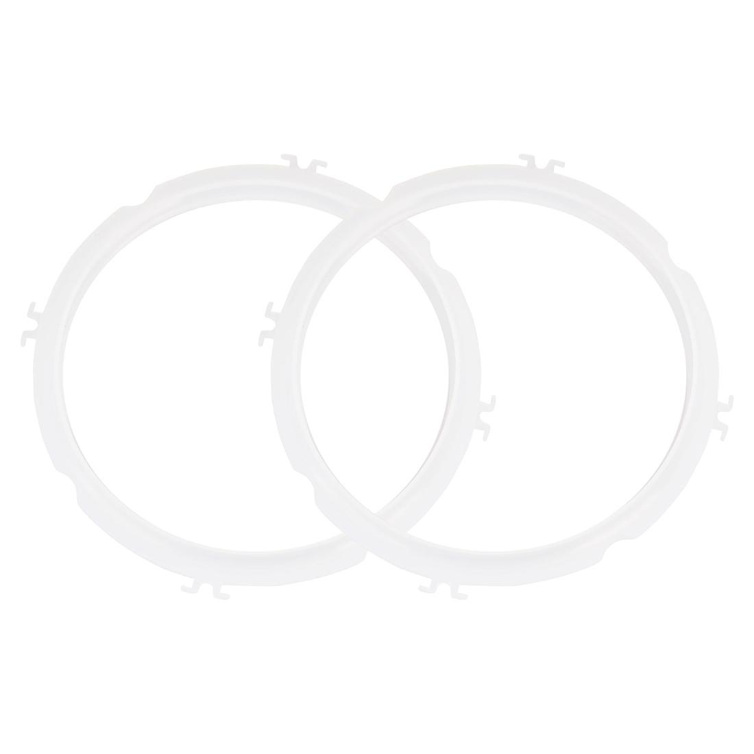 "2pcs Silicone Gasket Sealing Ring Sealer Inner Dia - 8.7"", Fits 5/6 QT Models"