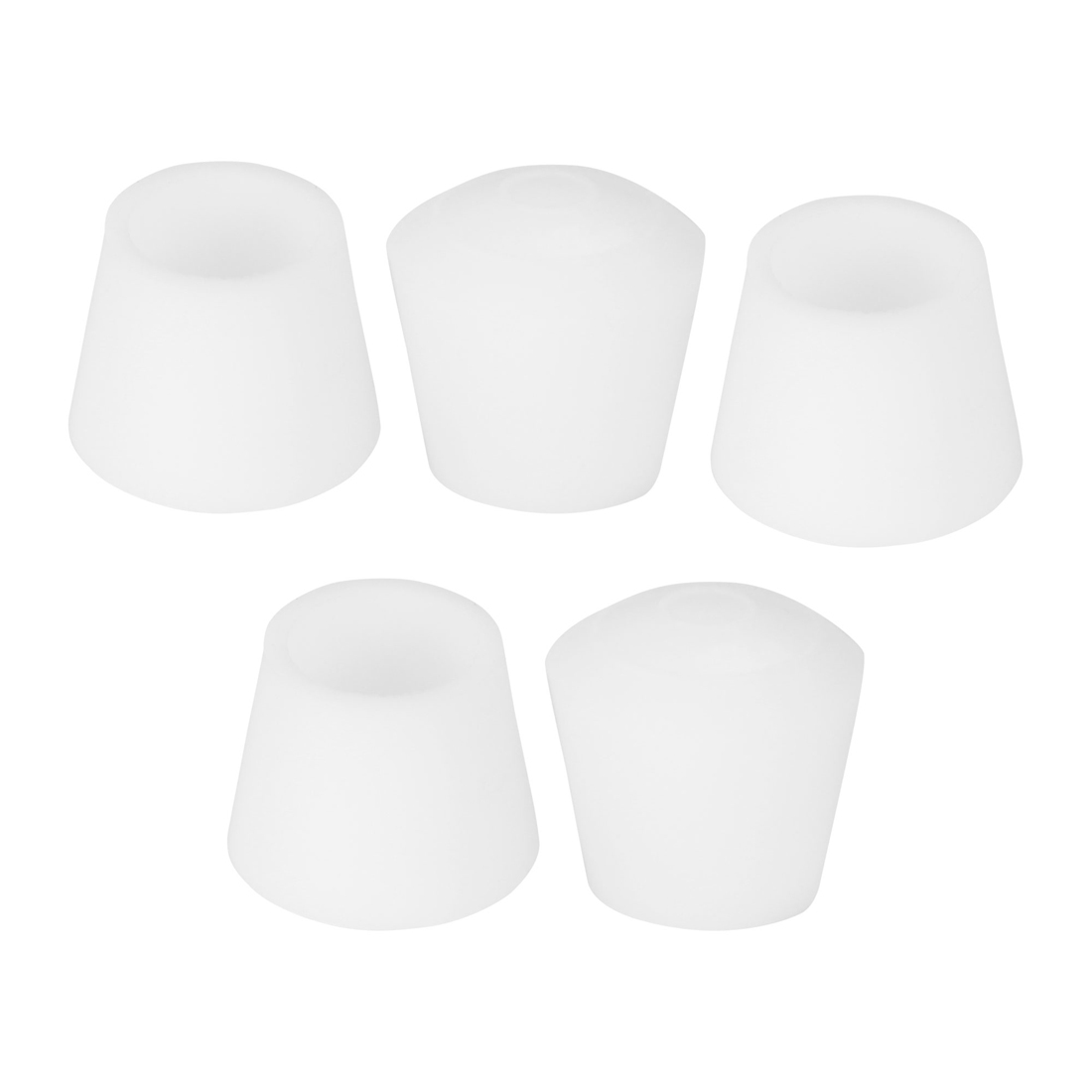 """Rubber Leg Caps Tip Cup Feet Cover 10mm 3/8"""" Inner Dia 5pcs for Furniture Chair"""