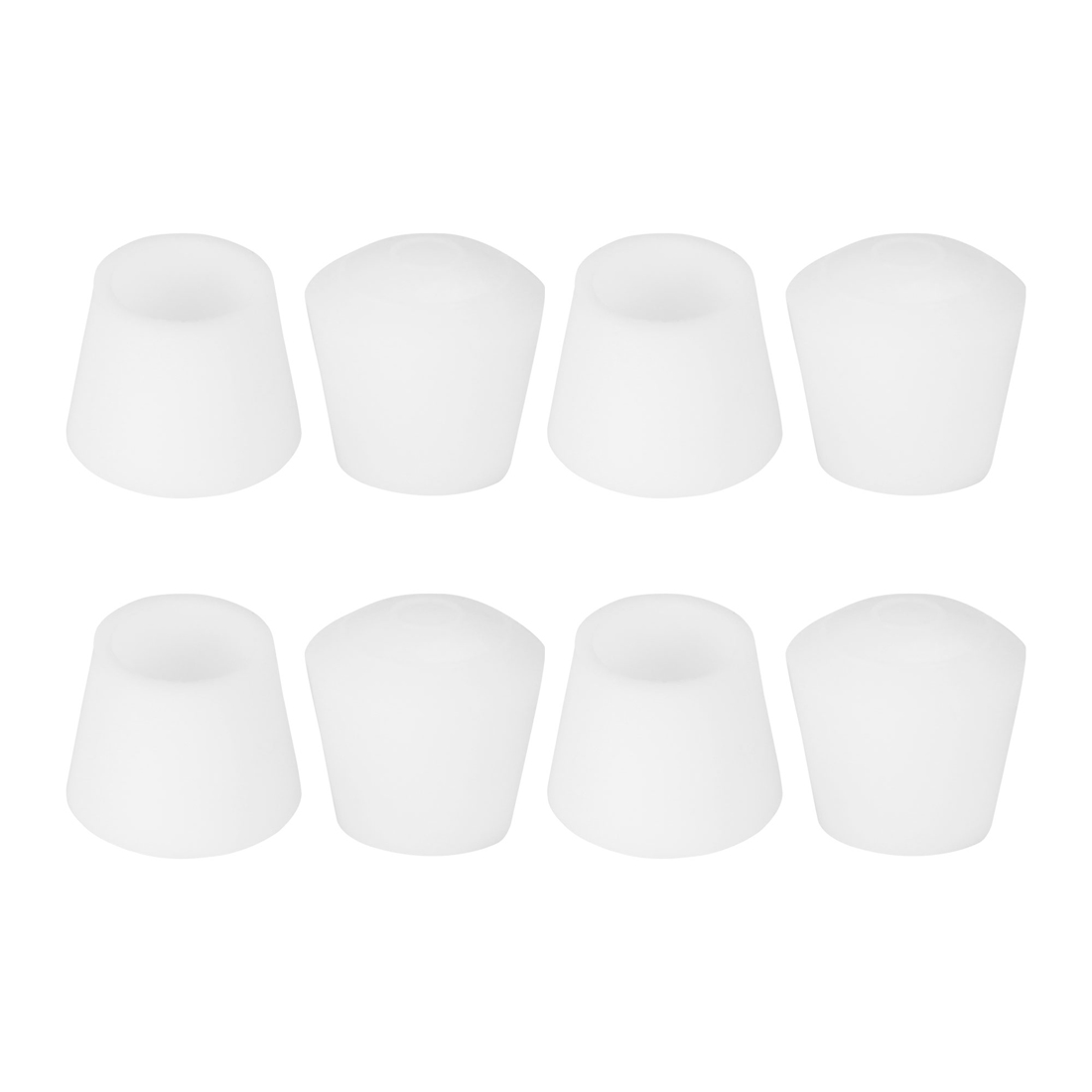 """Rubber Leg Caps Tip Cup Feet Cover 10mm 3/8"""" Inner Dia 8pcs for Furniture Chair"""