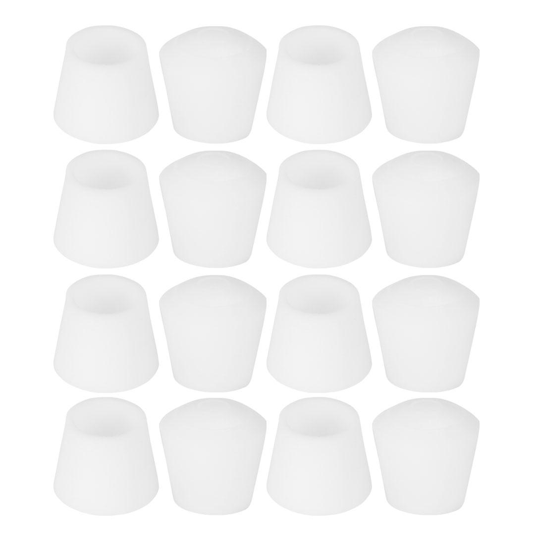 "Rubber Leg Cap Tip Cup Feet Cover 10mm 3/8"" Inner Dia 16pcs for Furniture Desk"