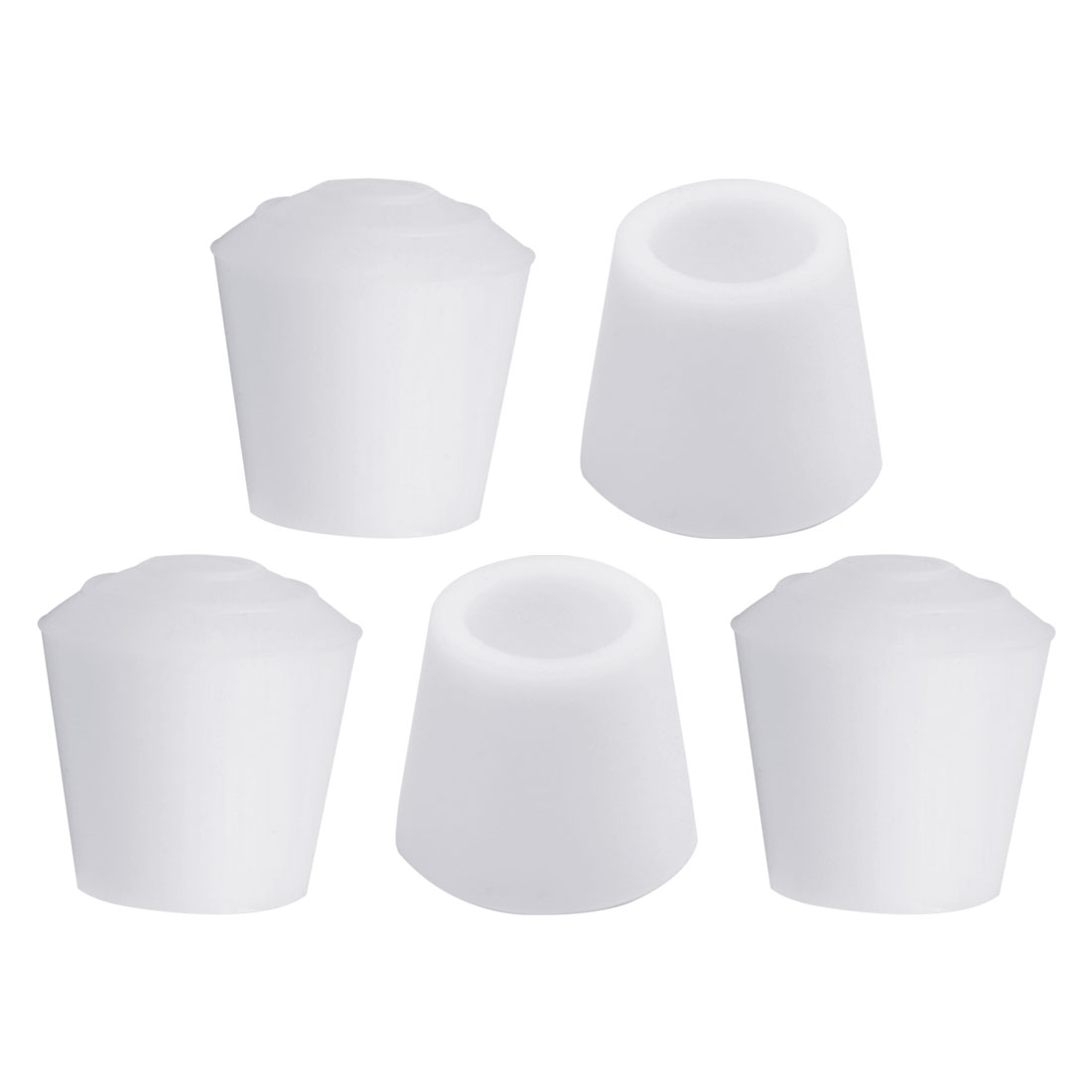 "Rubber Leg Caps Tip Cup Feet Cover 12mm 1/2"" Inner Dia 5pcs for Furniture Chair"
