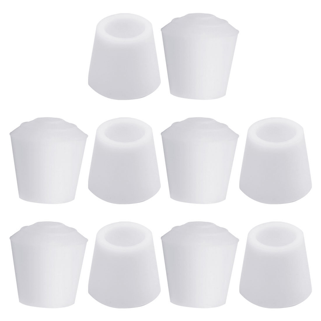 """Rubber Leg Caps Tip Cup Feet Cover 12mm 1/2"""" Inner Dia 10pcs for Furniture Chair"""