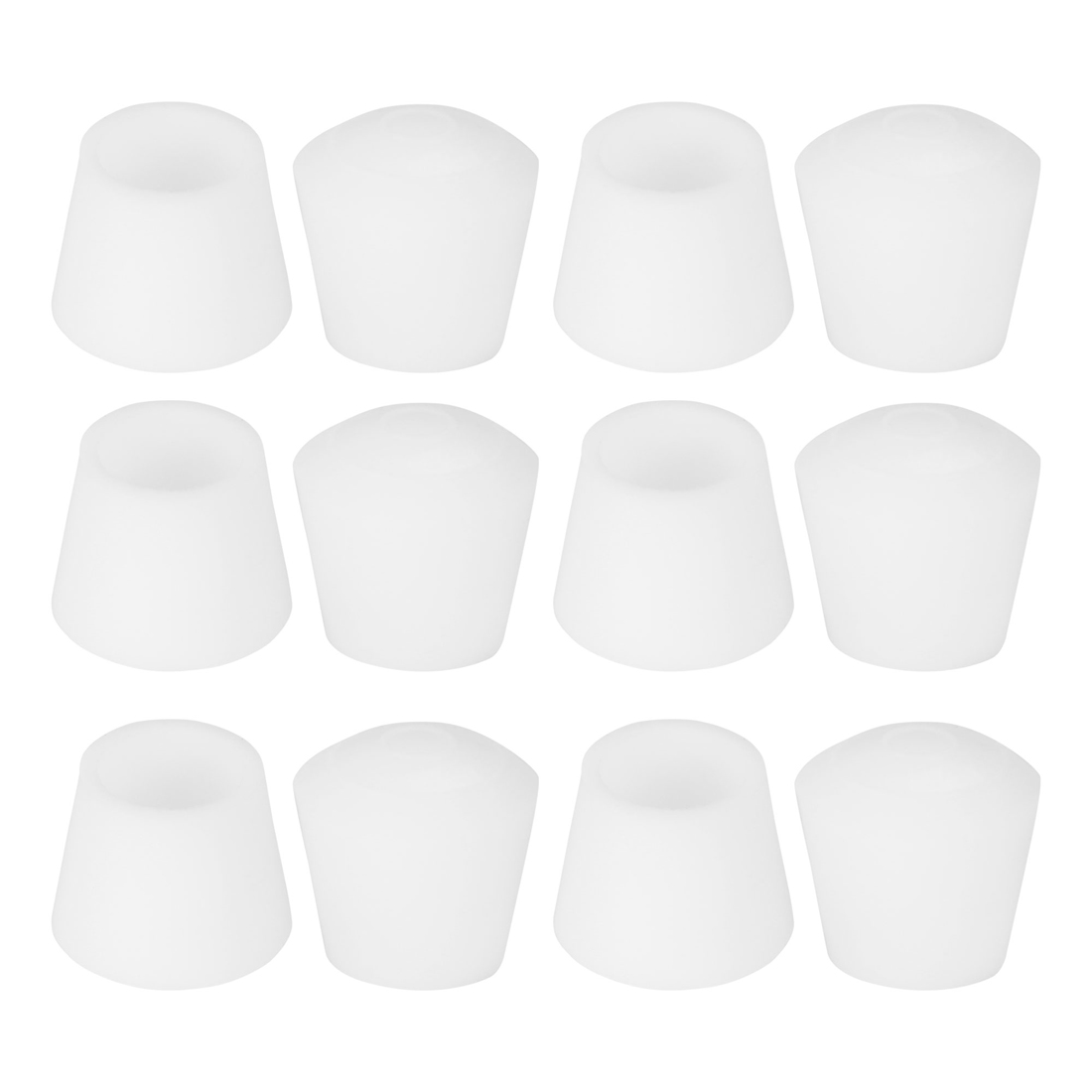 "Rubber Leg Cap Tip Cup Feet Cover 14mm 9/16"" Inner Dia 12pcs for Furniture Desk"