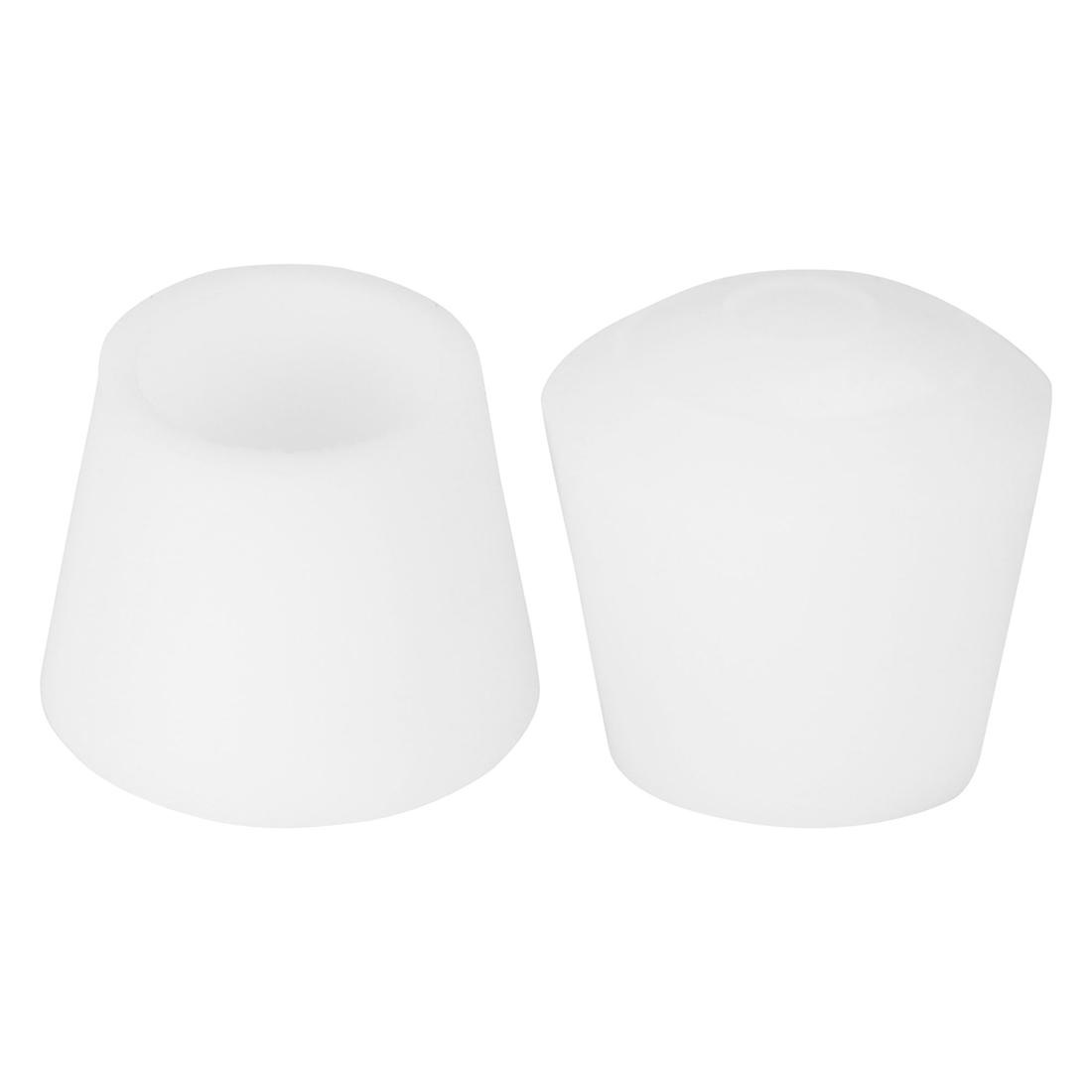 "Rubber Leg Cap Tip Cup Feet Cover Inner Dia 2pcs for Furniture Desk 16mm/5/8"""