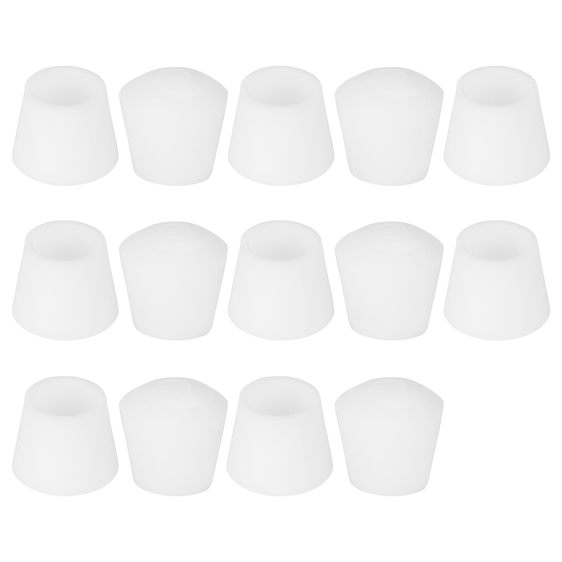 "Rubber Leg Caps Tip Cup Feet Cover 16mm 5/8"" Inner Dia 14pcs for Furniture Chair"