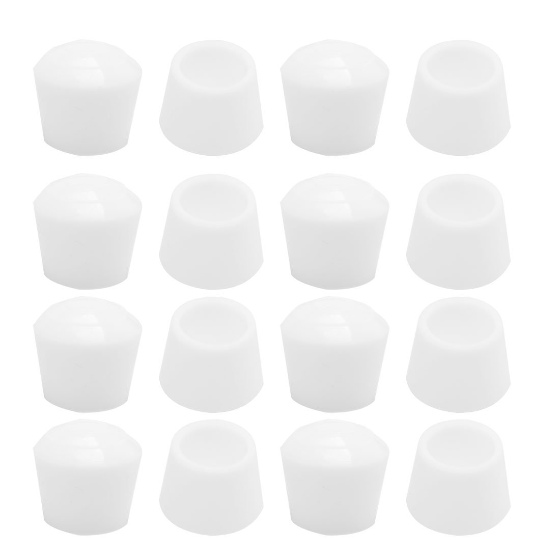 "Rubber Leg Cap Tip Cup Feet Cover 18mm 5/7"" Inner Dia 16pcs for Furniture Desk"