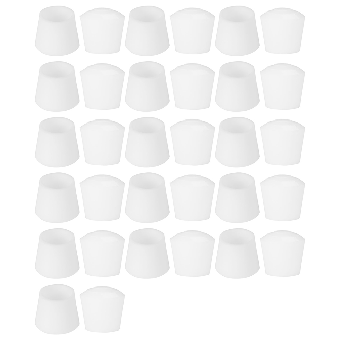 """Rubber Leg Caps Tip Cup Feet Cover 20mm 3/4"""" Inner Dia 32pcs for Furniture Chair"""