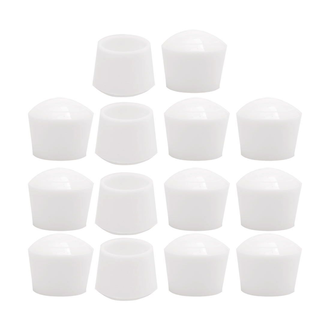 "Rubber Leg Caps Tip Cup Feet Cover 22mm 7/8"" Inner Dia 14pcs for Furniture Chair"