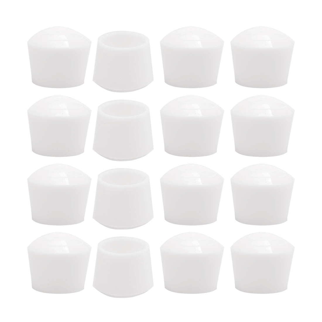 Rubber Leg Cap Tip Cup Feet Cover 22mm 7/8 Inner Dia 16pcs for Furniture Desk