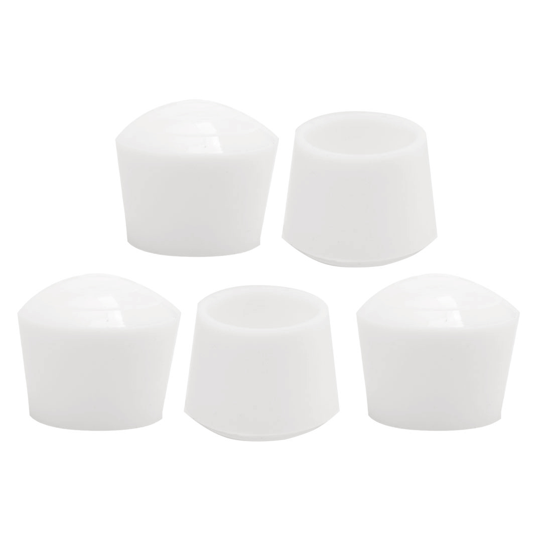 "Rubber Leg Caps Tip Cup Feet Cover 25mm 1"" Inner Dia 5pcs for Furniture Chair"