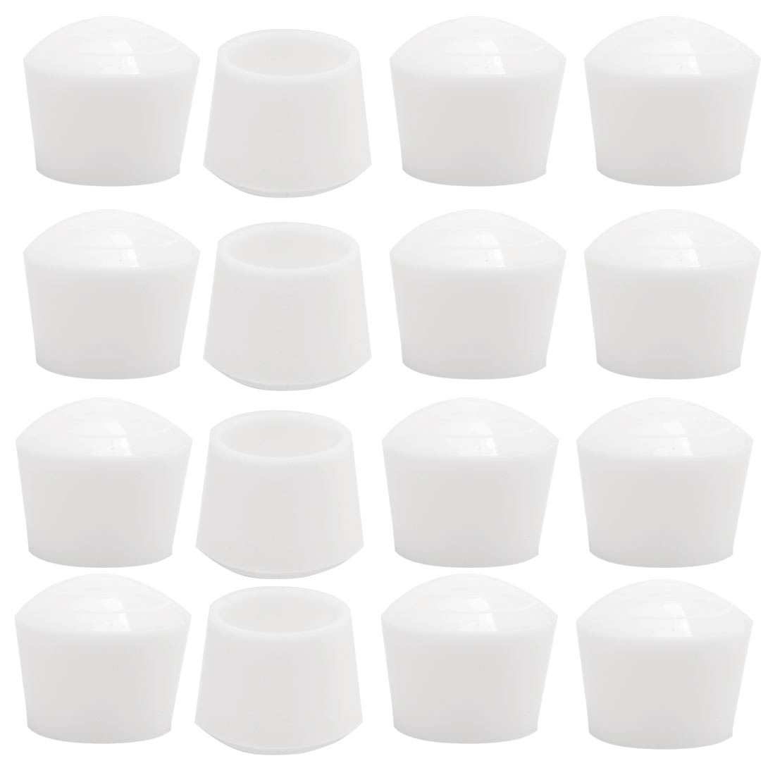 "Rubber Leg Cap Tip Cup Feet Cover 25mm 1"" Inner Dia 16pcs for Furniture Desk"