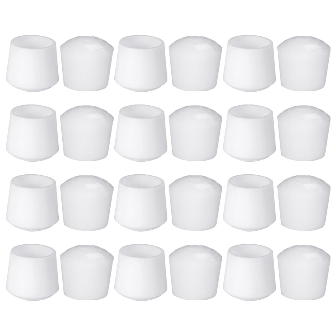 "Rubber Leg Caps Tip Cup Feet Cover 28mm 1 1/10"" Inner Dia 24pcs for Furniture"