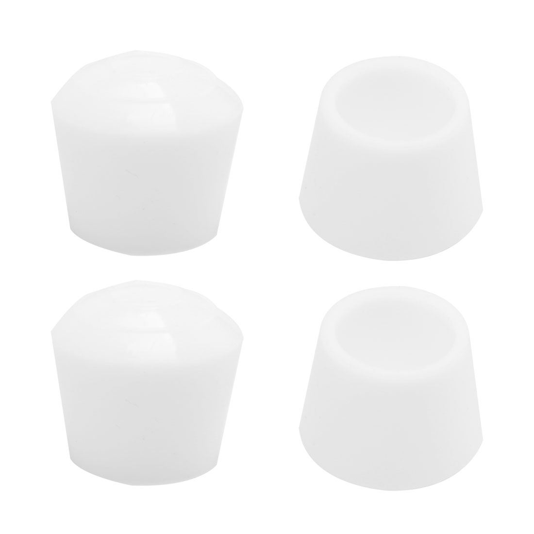 """Rubber Leg Caps Tip Cup Feet Cover 30mm 1 1/8"""" Inner Dia 4pcs for Furniture"""
