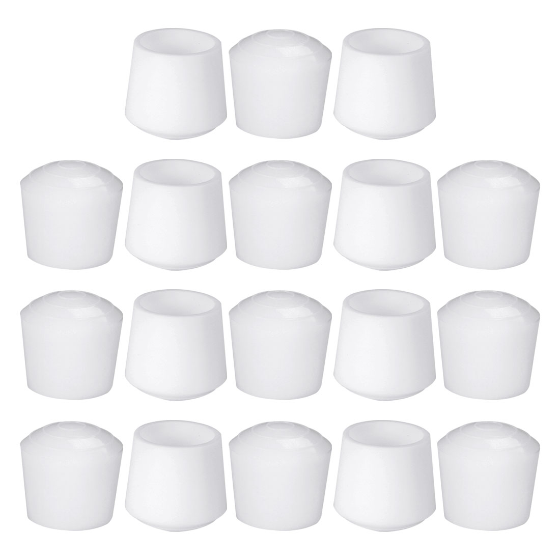"""Rubber Leg Caps Tip Cup Feet Cover 32mm 1 1/4"""" Inner Dia 18pcs for Furniture"""