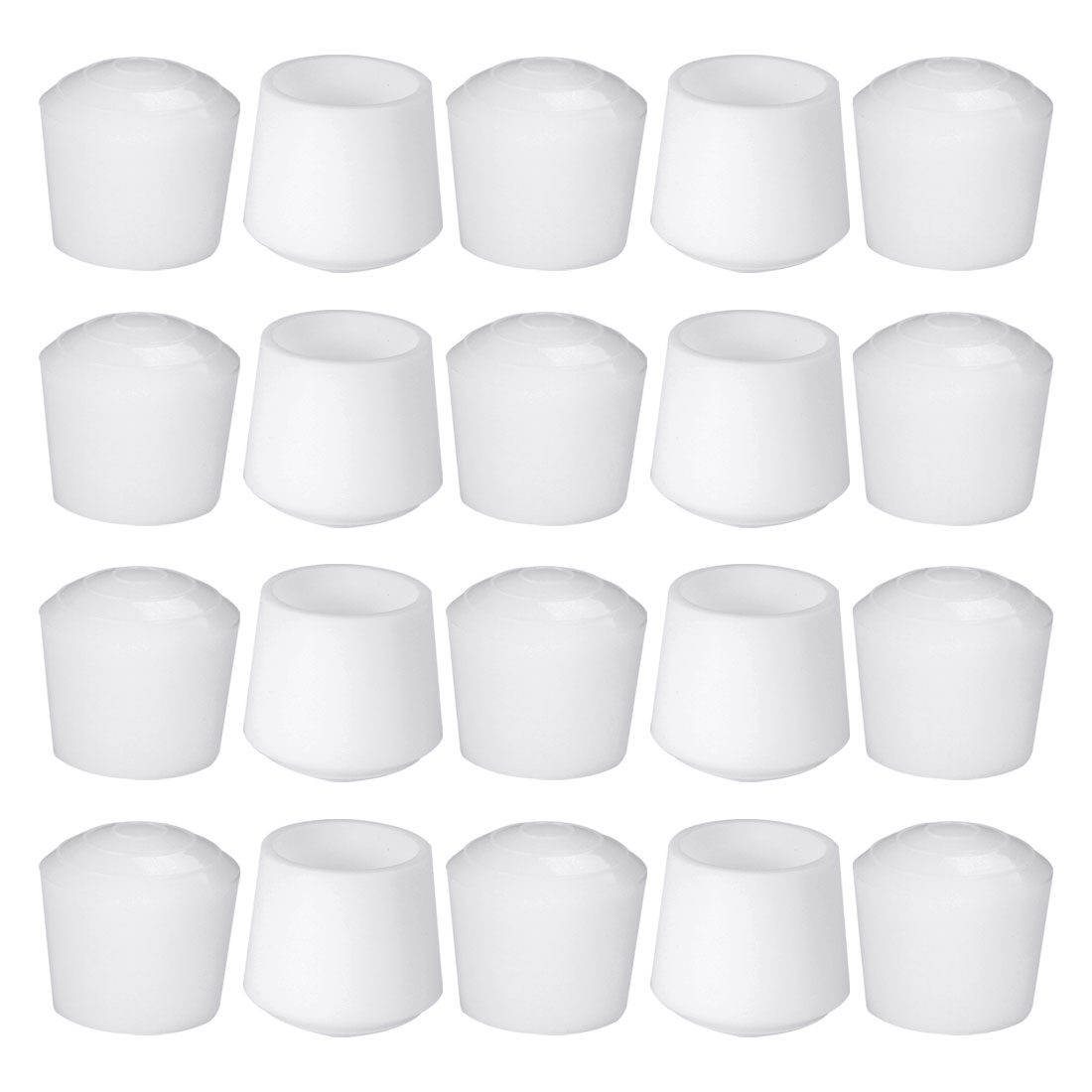 "Rubber Leg Cap Cups Feet Cover 32mm 1 1/4"" Inner Dia 20pcs for Furniture Desk"