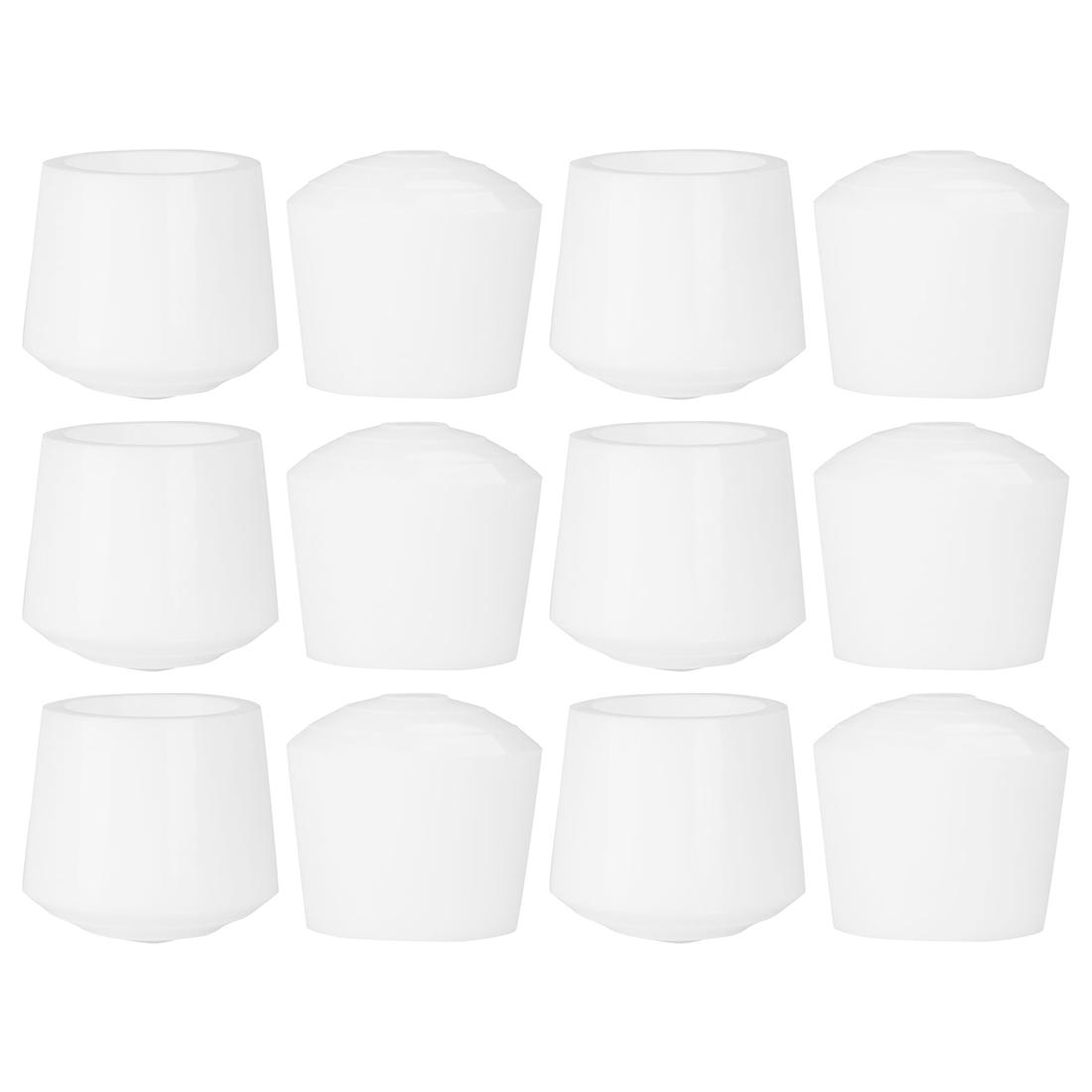 "Rubber Leg Cap Tip Cup Feet Cover 35mm 1 3/8"" Inner Dia 12pcs for Furniture Desk"