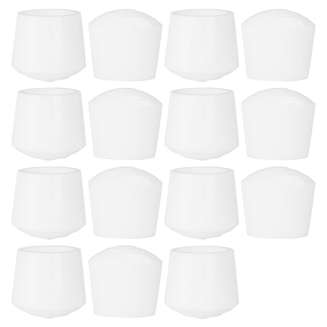 "Rubber Leg Cap Tip Cup Feet Cover 35mm 1 3/8"" Inner Dia 15pcs for Furniture Desk"