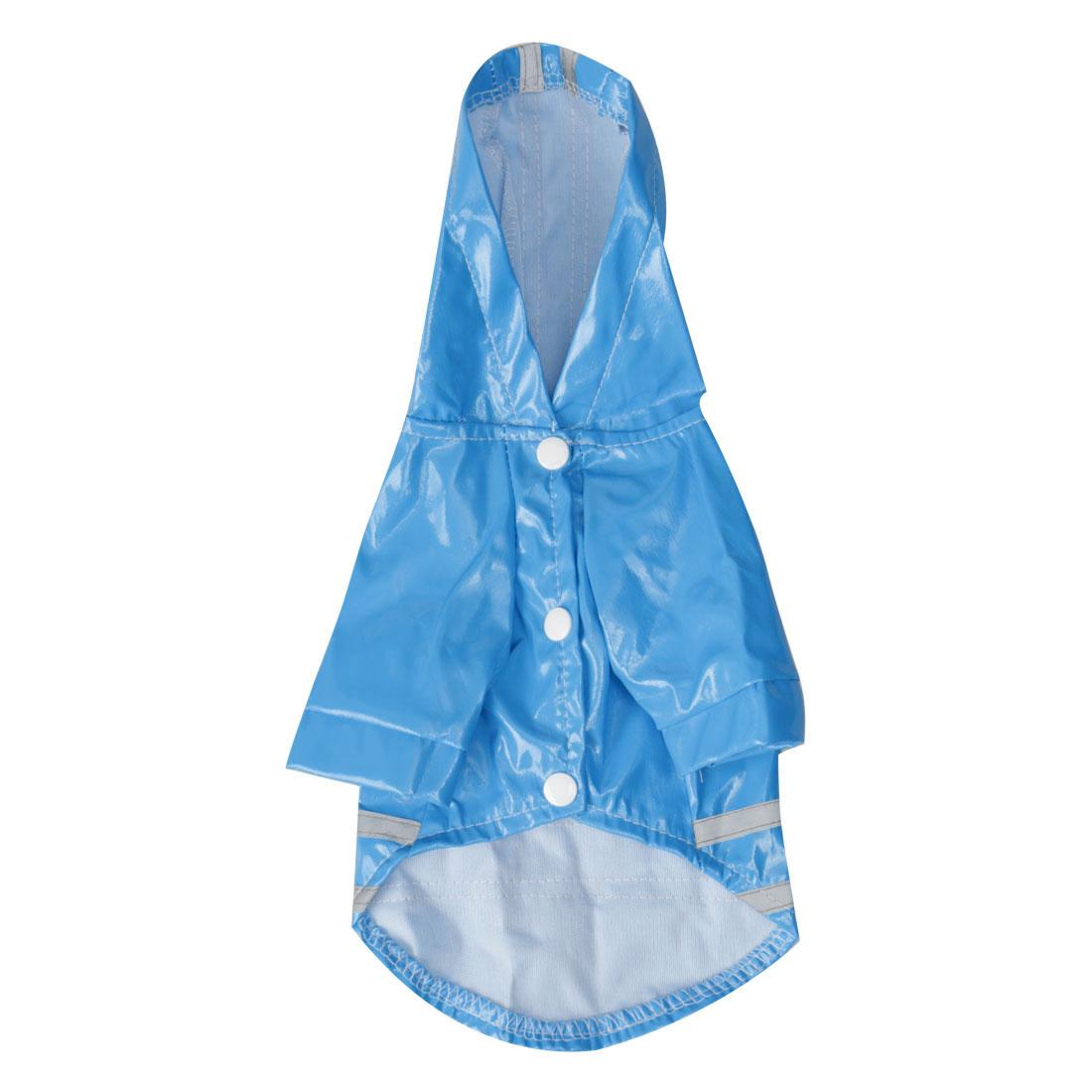Pet Dog Raincoat Jacket Poncho Coat Polyester Water-resistant Rainwear, Blue M