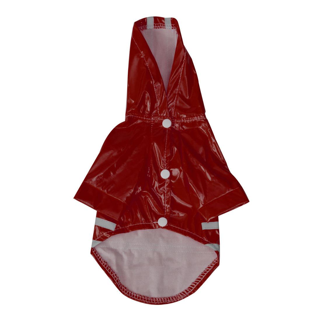 Pet Dog Raincoat Jacket Poncho Coat Polyester Water-resistant Rainwear, Red L