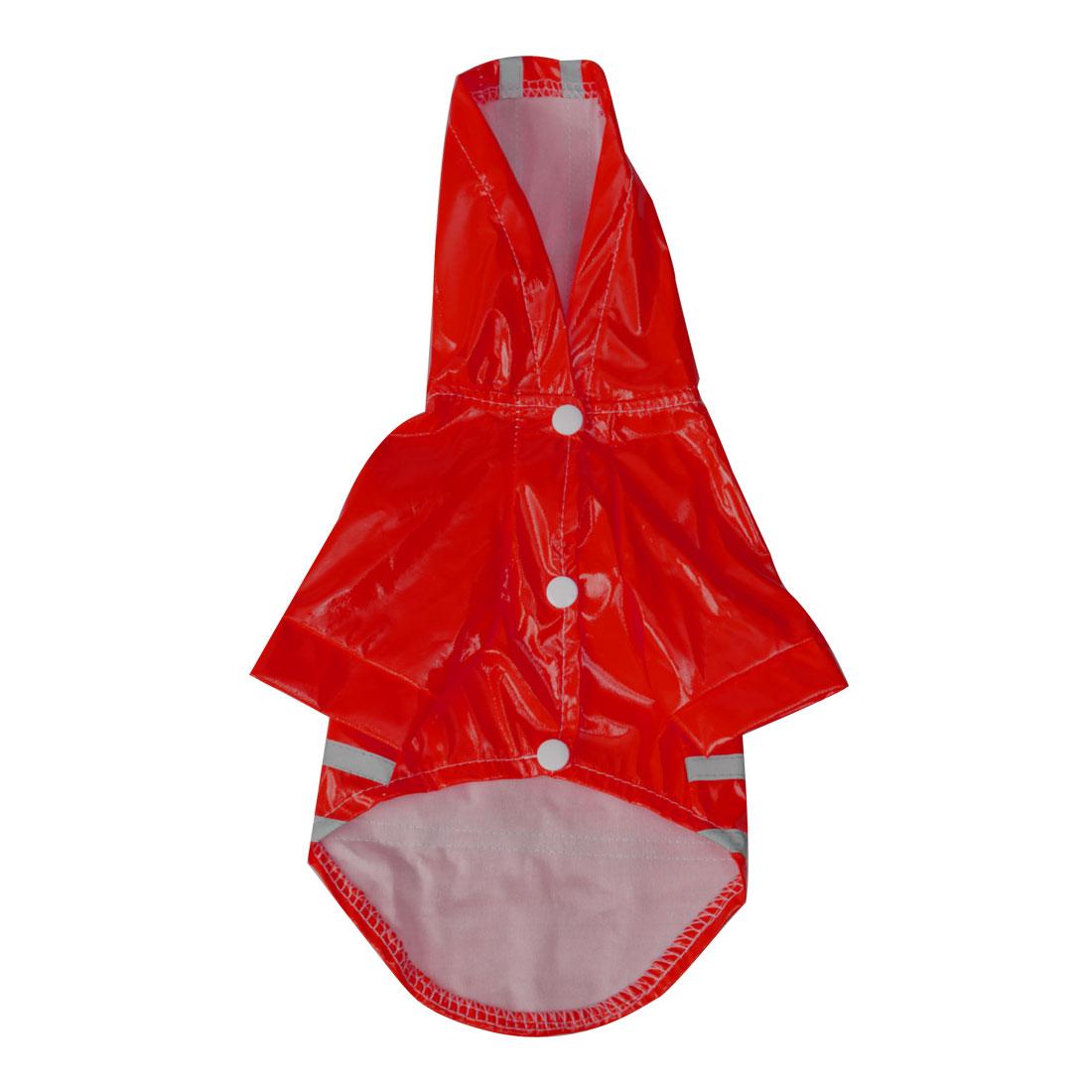 Pet Dog Raincoat Jacket Poncho Coat Polyester Water-resistant Rainwear, Red XL
