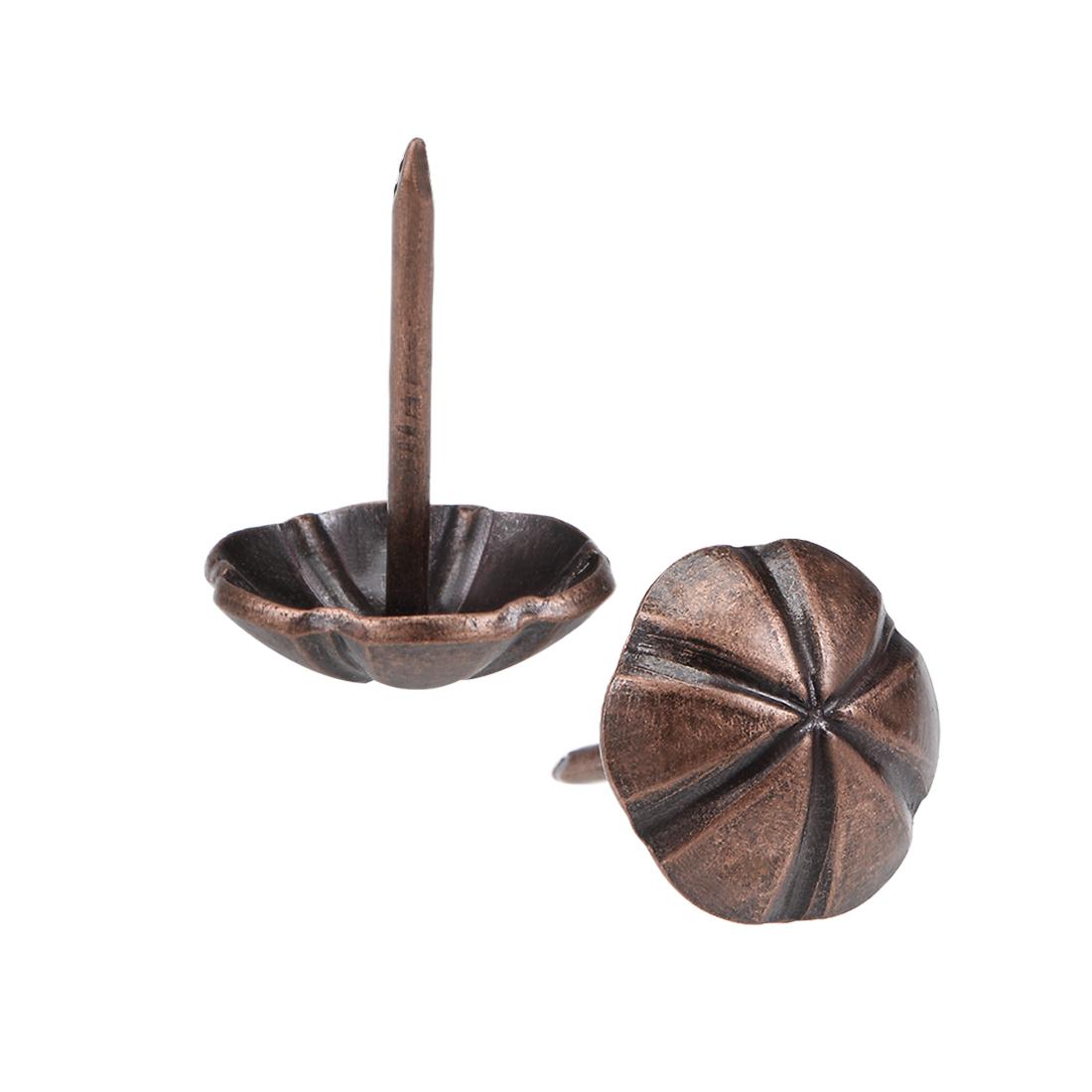 Upholstery Nails Tacks 16mm Head Dia Round Thumb Push Pins Copper Tone 35 Pcs