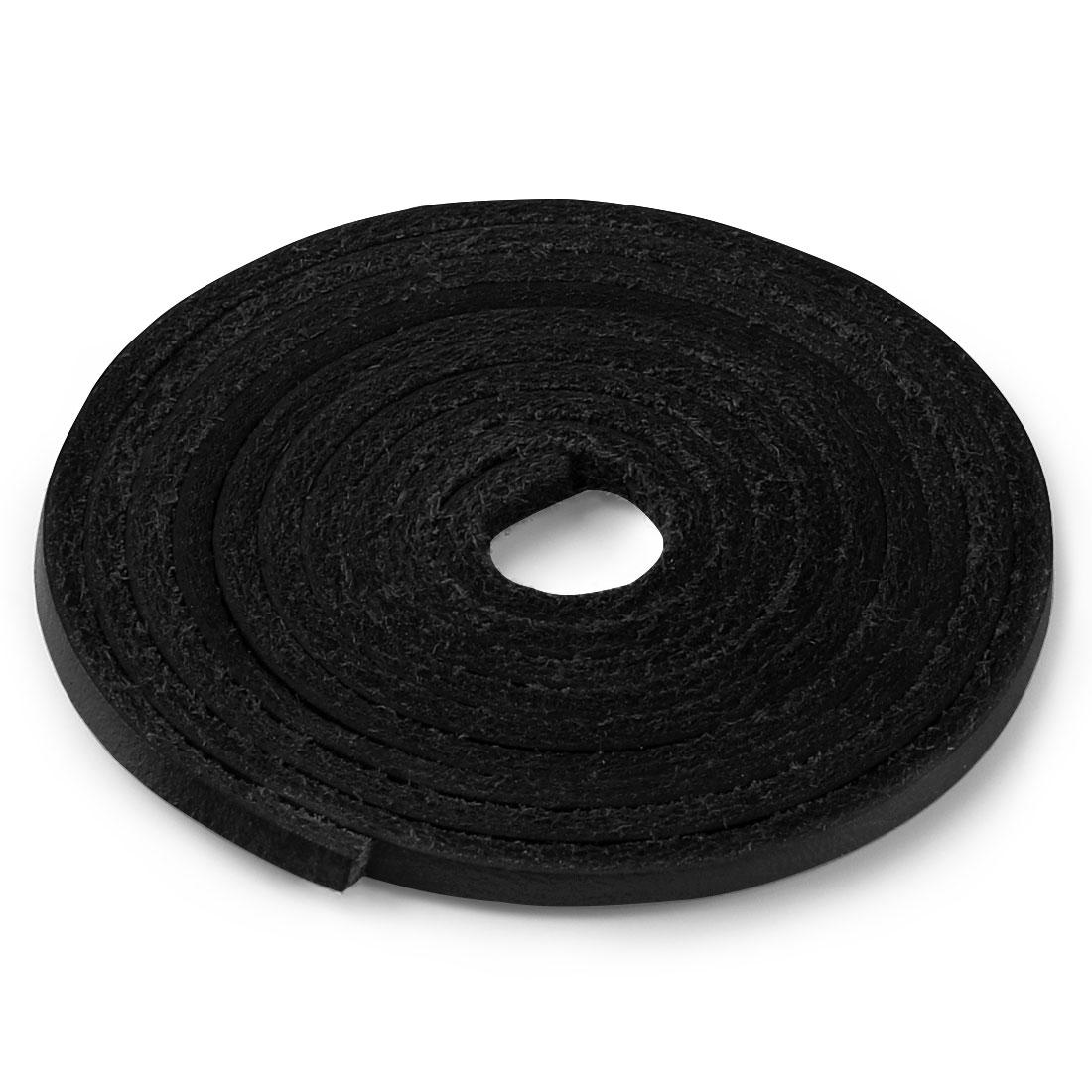 "Leather Boot Shoelaces for Boat Shoes Shoe Laces Black 100cm / 39.37"""