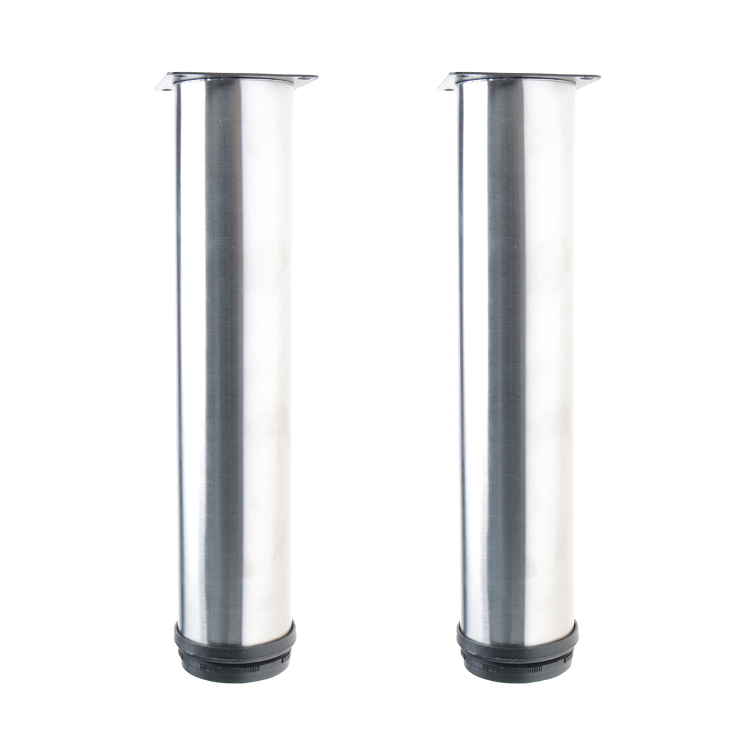 """10"""" Furniture Legs Stainless Steel Sofa Bench Adjustable Feet Replacement 2pcs"""
