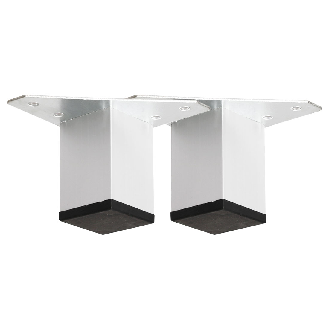 "2"" Furniture Leg Aluminium Alloy Sofa Feet Replacement Height Adjuster 2pcs"