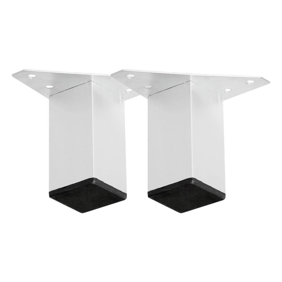 "3"" Furniture Legs Aluminium Alloy Sofa Feet Replacement Height Adjuster 2pcs"
