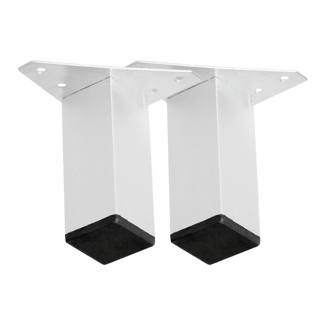 "4"" Furniture Legs Aluminium Alloy Sofa Feet Replacement Height Adjuster 2pcs"