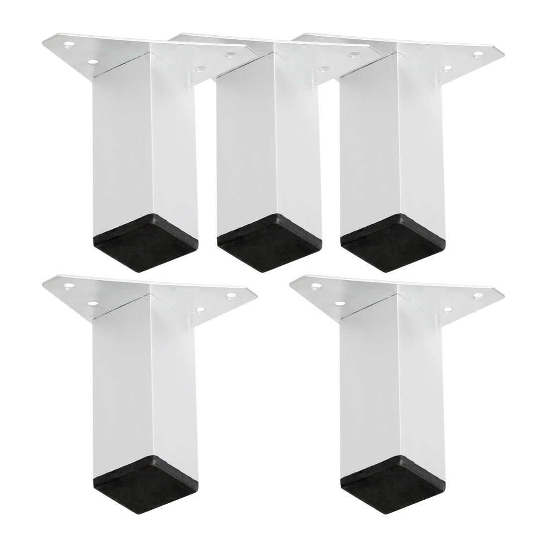 "4"" Furniture Legs Aluminium Alloy Sofa Feet Replacement Height Adjuster 5pcs"