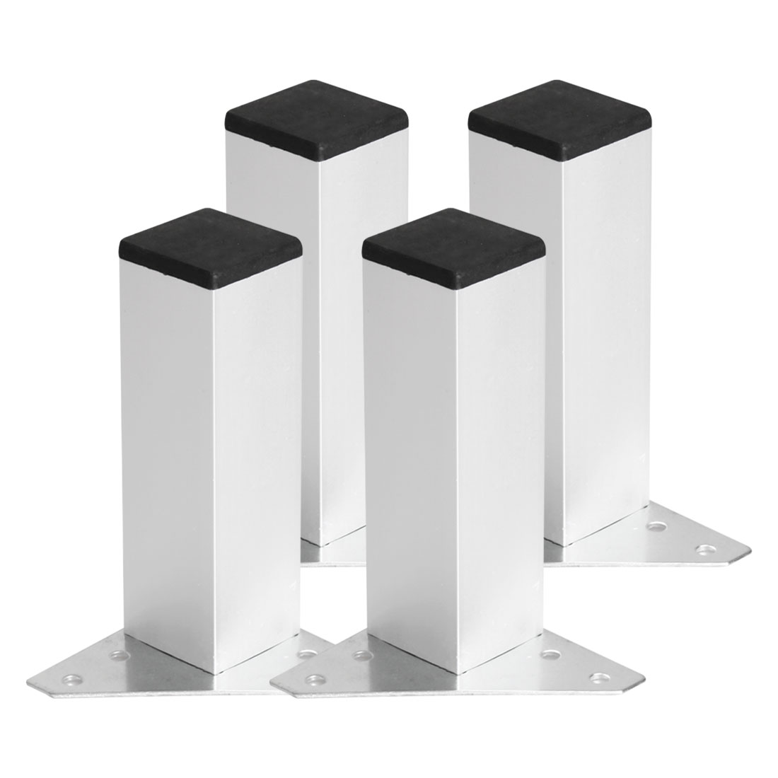 "6"" Furniture Leg Aluminium Alloy Table Feet Replacement Height Adjustment 4pcs"