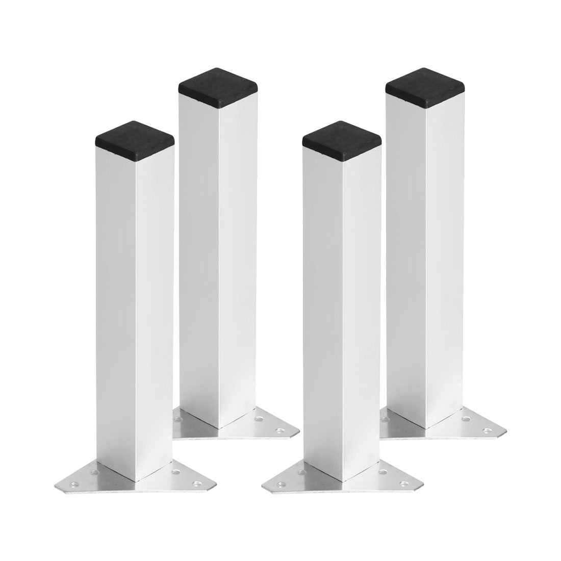 "10"" Furniture Leg Aluminium Alloy Table Feet Replacement Height Adjustment 4pcs"
