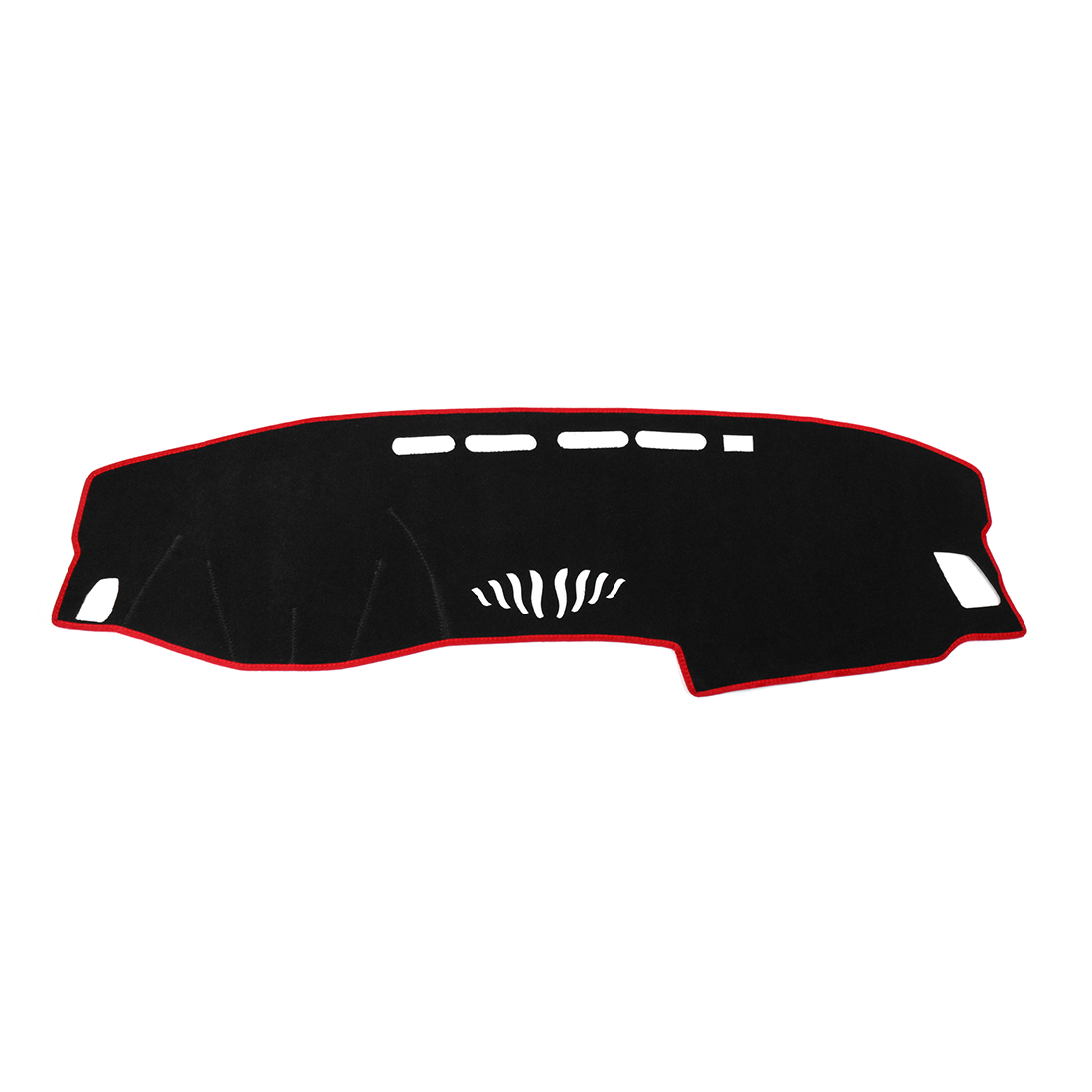 Car Dashboard Cover Nonslip Black Red Dash Mat Sun Pad for 2018 Honda Accord