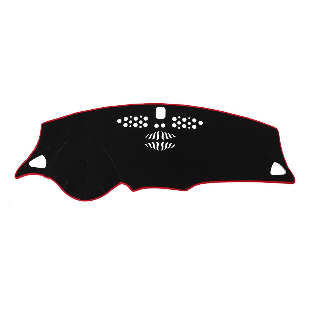 Car Dashboard Cover Nonslip Black Red Dash Mat Pad for 16-18 Chevrolet Malibu