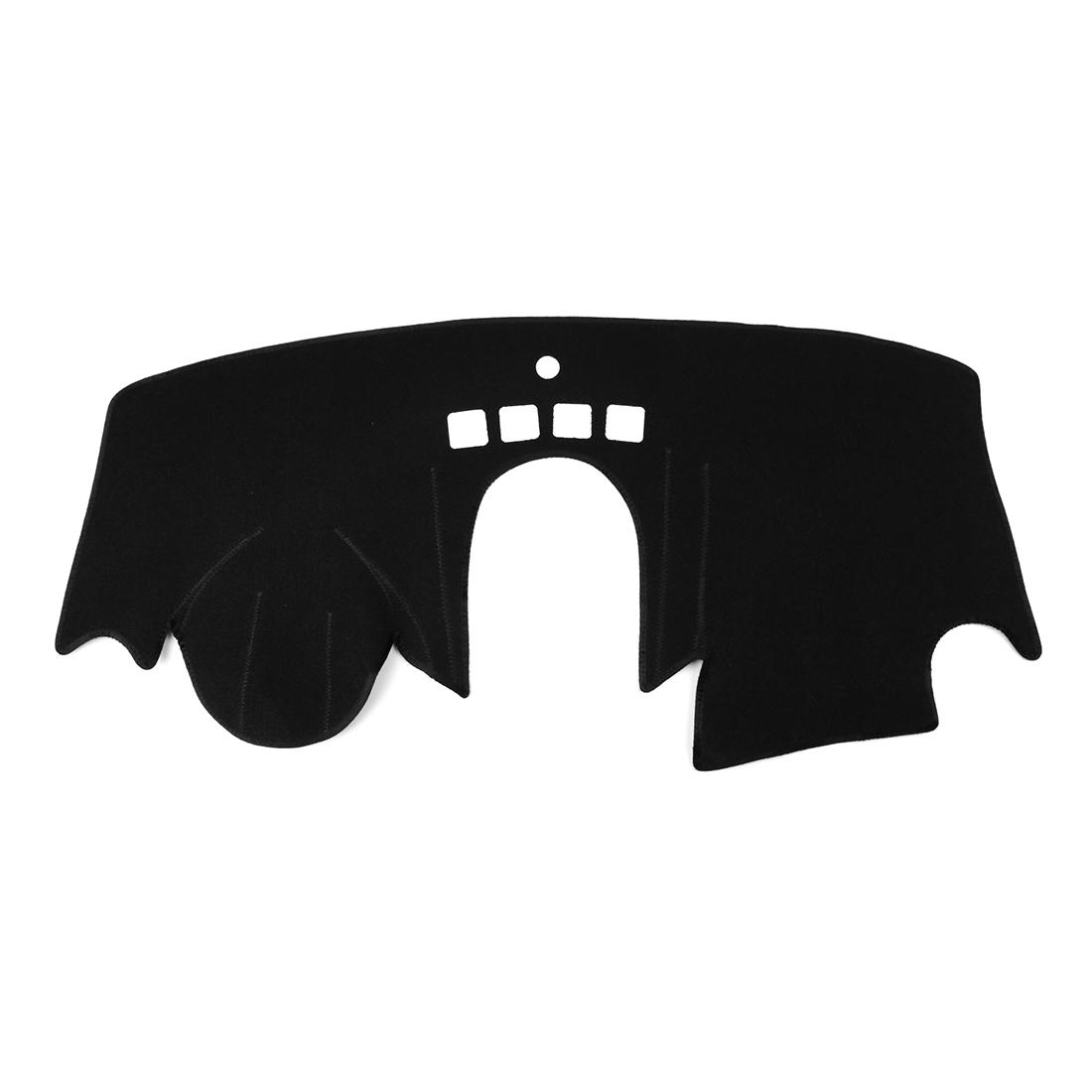 Car Dashboard Cover Nonslip Black Dash Mat Sun Pad for 2015-2016 Ford Fiesta