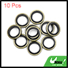 10pcs Engine Oil Crush Washers Drain Plug Gaskets 10mm ID. 16mm OD. for Car