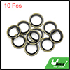 10pcs Engine Oil Crush Washers Drain Plug Gaskets 12mm ID. 18mm OD. Bronze Tone