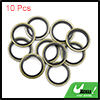 10pcs Engine Oil Crush Washers Drain Plug Gaskets 18mm ID. 25mm OD. for Car