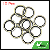 10pcs Engine Oil Crush Washers Drain Plug Gaskets 22mm ID. 30mm OD. Bronze Tone