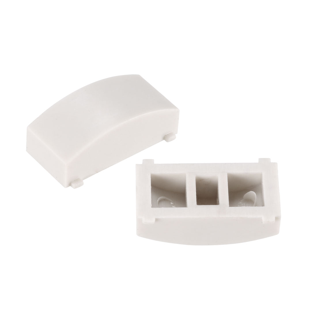 50Pcs Plastic 12.4x4.5mm Tact Switch Cap White for 8x8 Pushbutton Tactile Switch