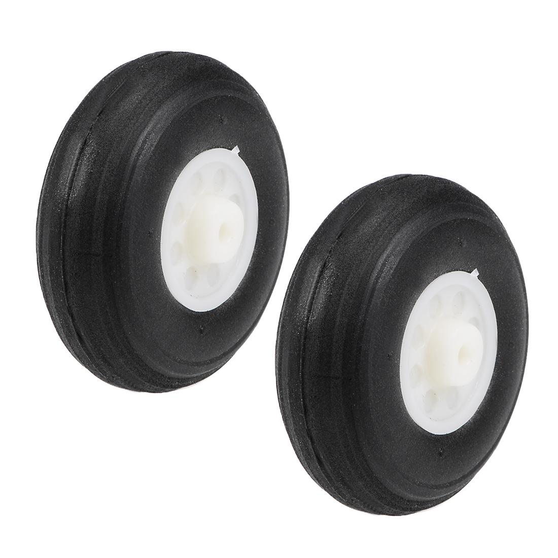 "Tire and Wheel Sets for RC Airplane,PU Sponge Tire with Plastic Hub,1.5"" 2pcs"