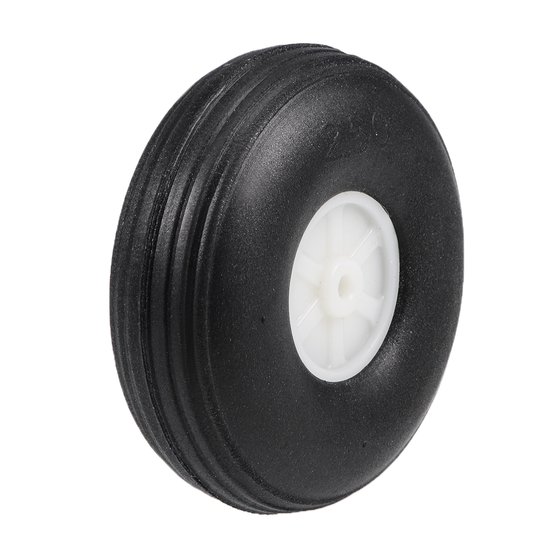 """Tire and Wheel Sets for RC Car Airplane,PU Sponge Tire with Plastic Hub,2.5"""""""