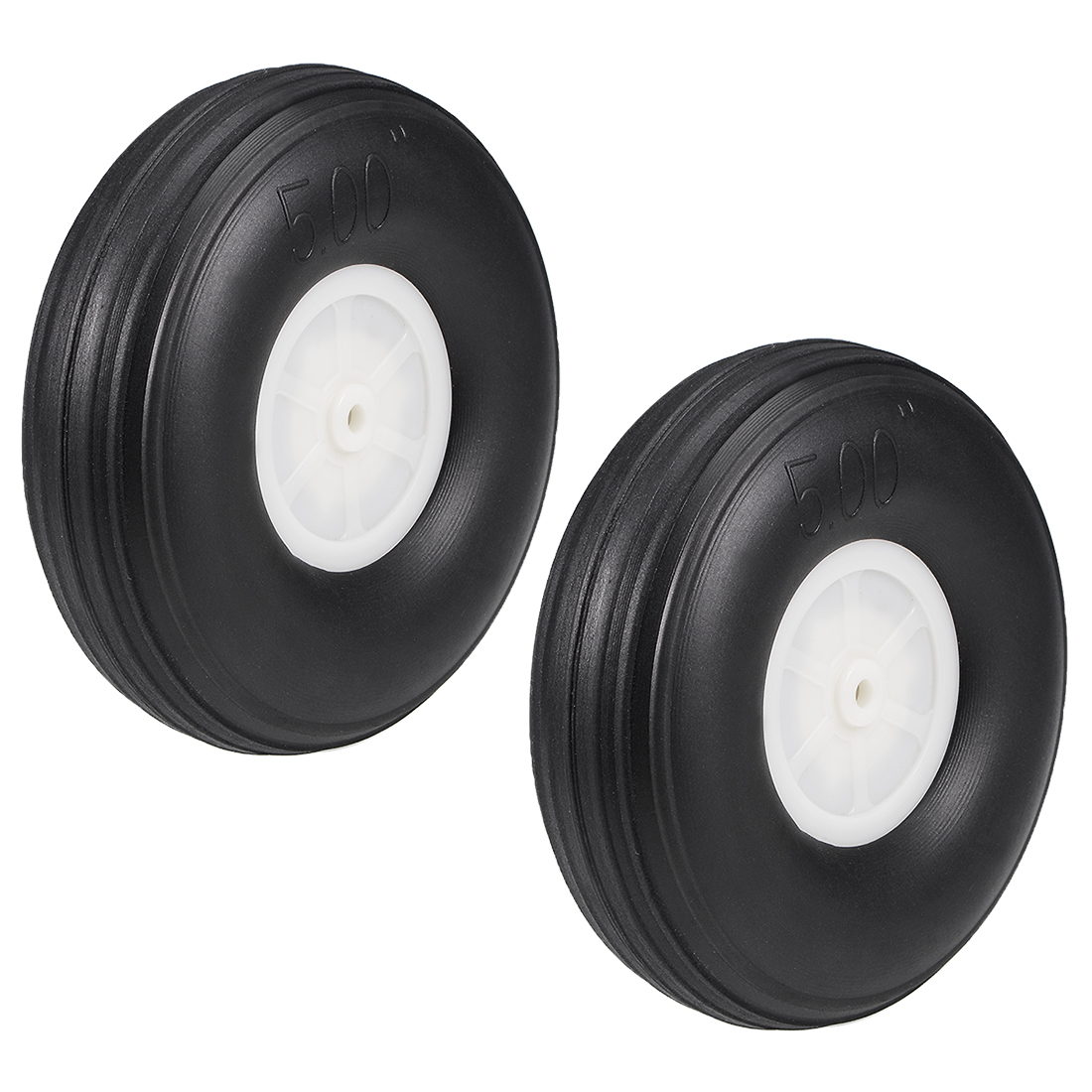 "Tire and Wheel Sets for RC Car Airplane,PU Sponge Tire with Plastic Hub,5"" 2pcs"