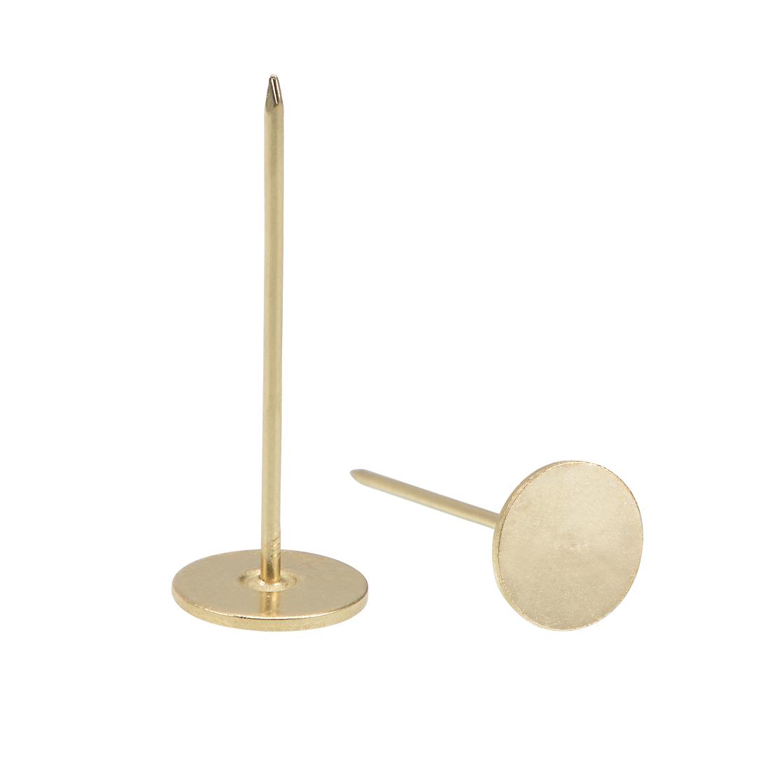 Upholstery Nails Tacks 18mmx50mm Flat Head Furniture Nails Gold Tone 80 Pcs
