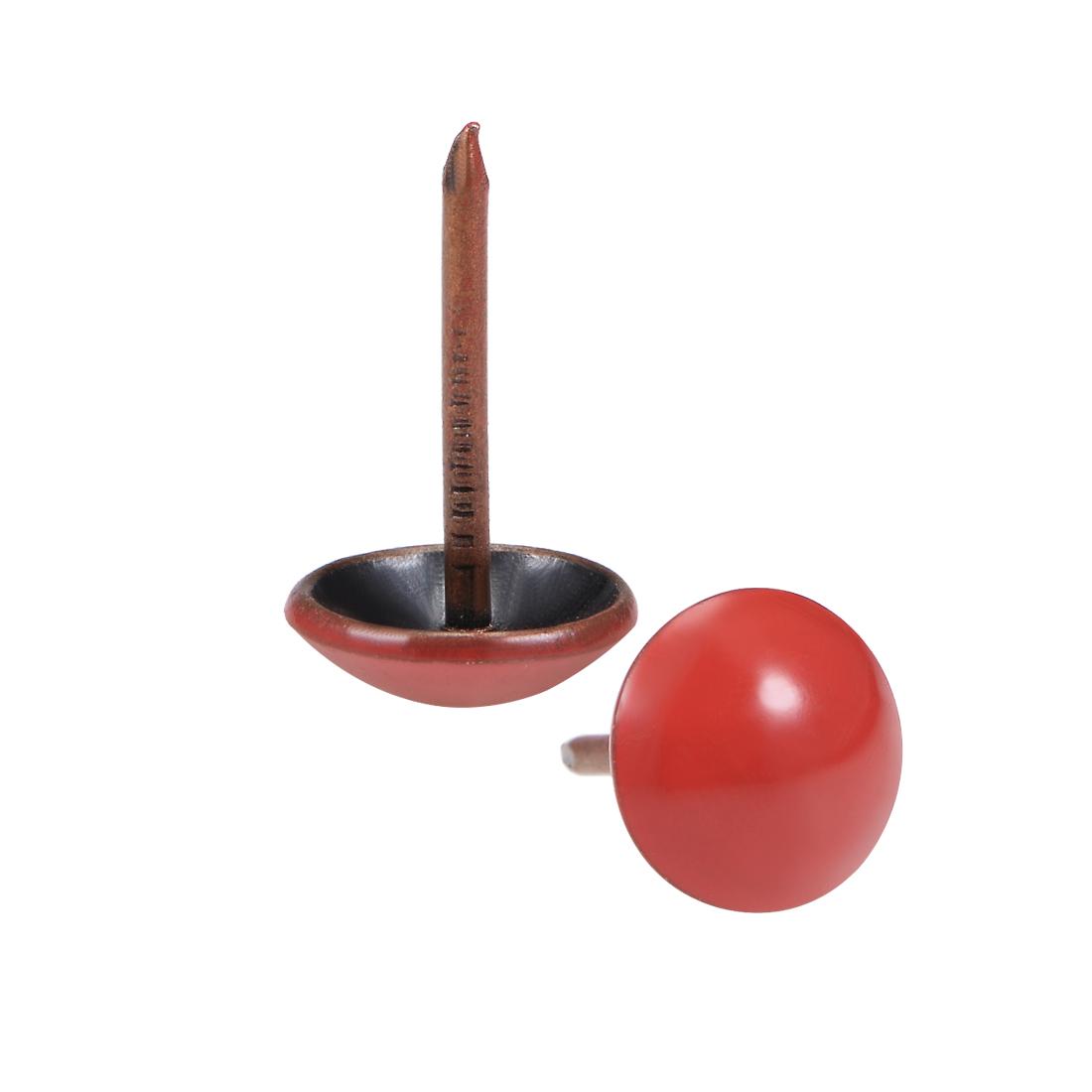 Upholstery Nails Tacks 11mm Red Round Head 17mm Length Thumb Push Pins 25 Pcs